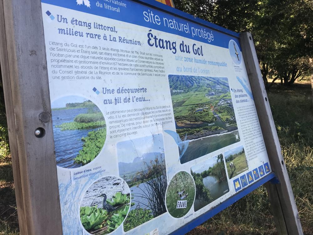 L'étang du Gol - Les anciennes gravières du Gol - île de la Réunion