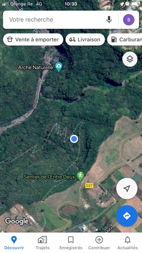 Le bras de la plaine via le Sentier Dassy carte google map 2020