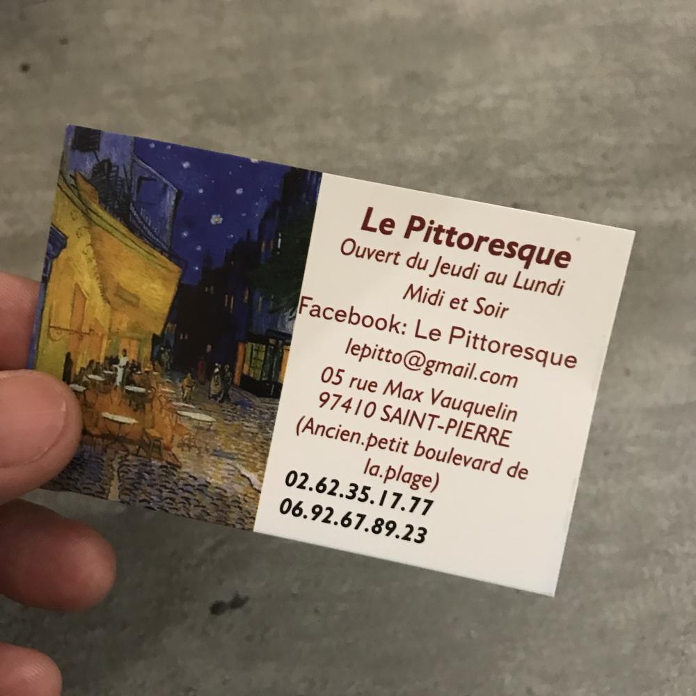 Mon avis LE PITTORESQUE Restaurant réunionnais -Saint-Pierre Réunion